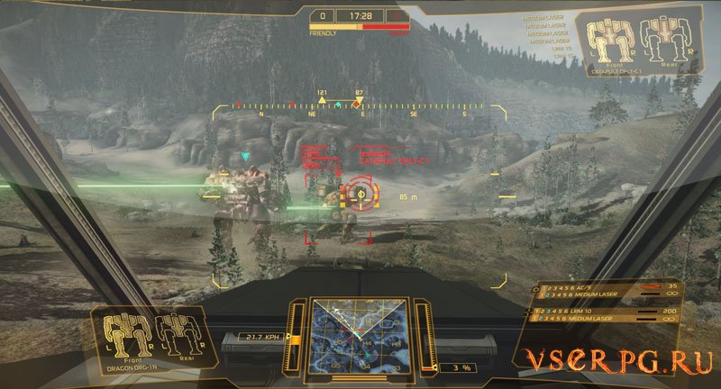MechWarrior Online screen 1