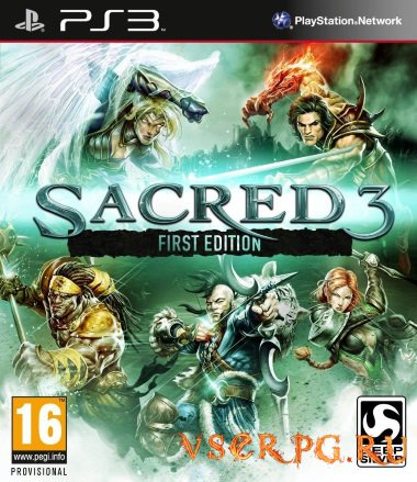 Постер игры Sacred 3 PS3