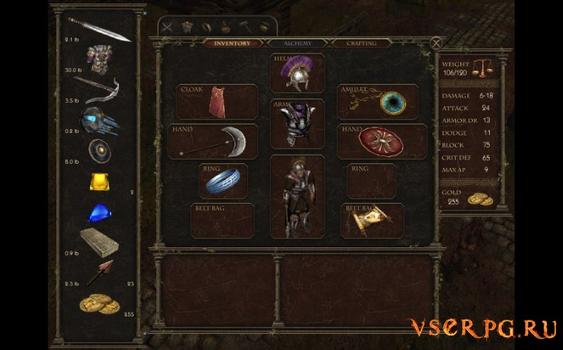 Age of Decadence screen 2