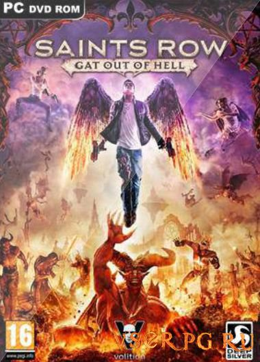 Постер игры Saints Row Gat Out of Hell