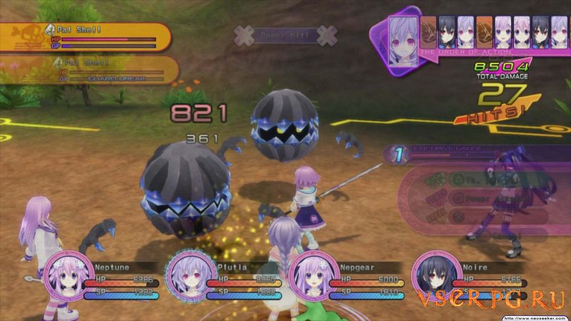 Hyperdimension Neptunia Victory screen 1