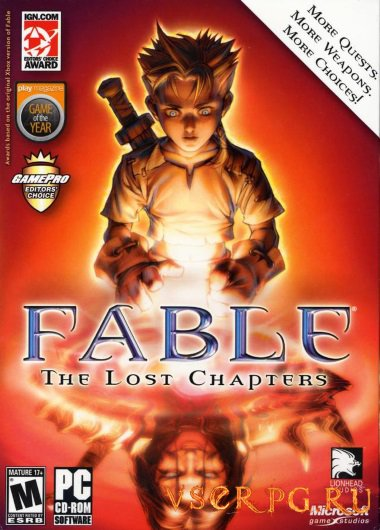 Постер игры Fable: The Lost Chapters