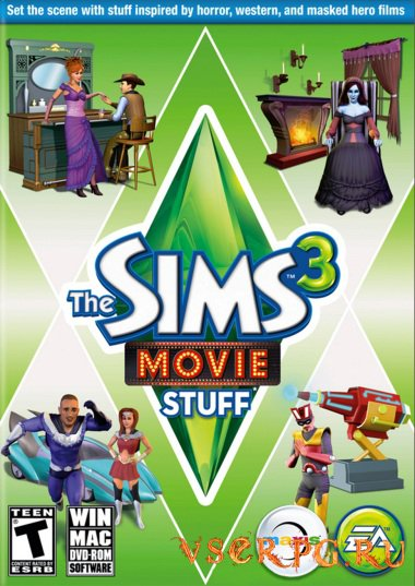Постер игры Симс 3: Кино