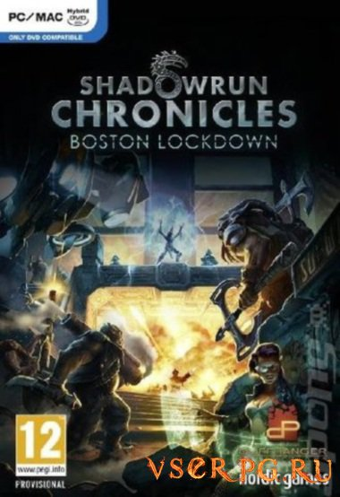 Постер игры Shadowrun Chronicles: Boston Lockdown