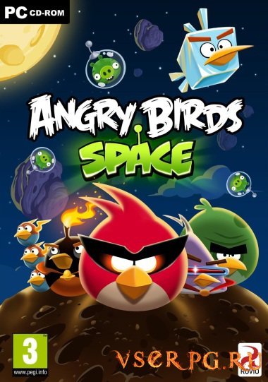 Постер игры Angry Birds Space