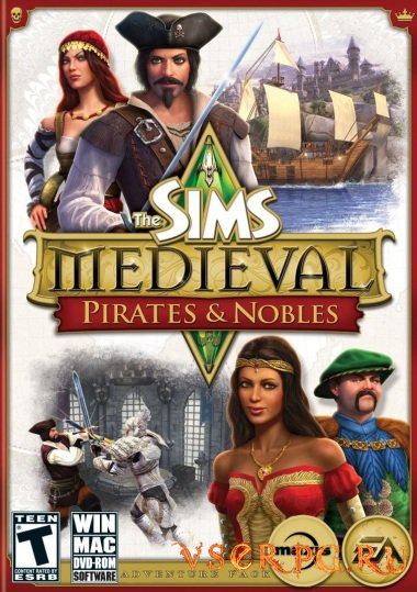 Постер игры Симс 3: Пираты и знать