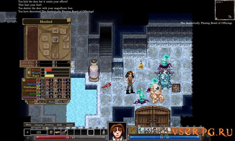 Dungeons of Dredmor screen 1