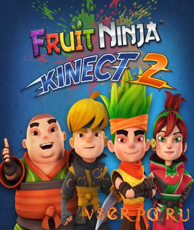 Постер игры Fruit Ninja Kinect 2
