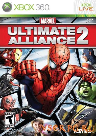 Постер игры Marvel Ultimate Alliance 2 Xbox 360