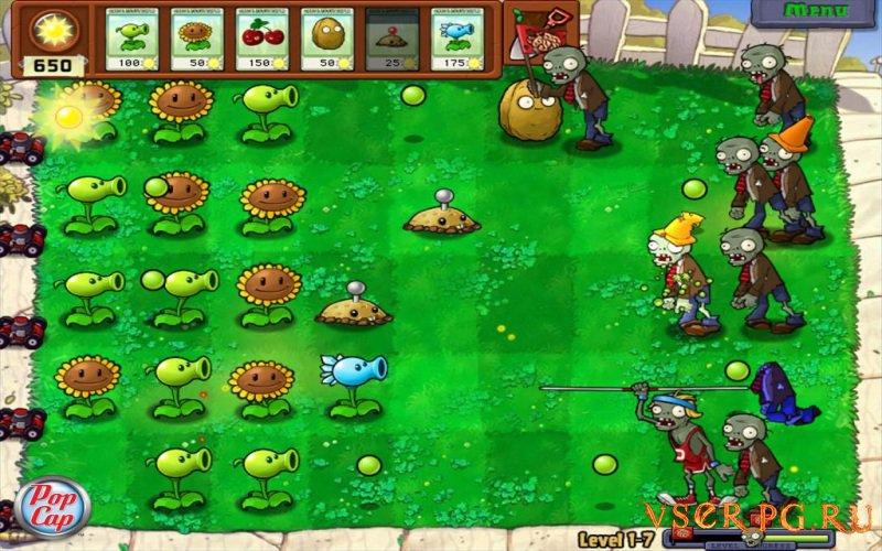 Зомби против растений screen 3