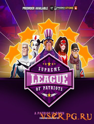 Постер игры Supreme League of Patriots