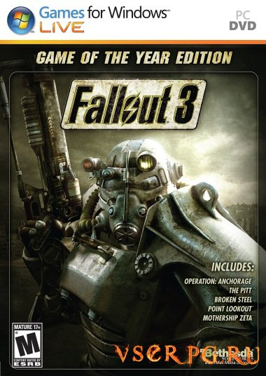 Постер игры Fallout 3 Game of the Year Edition