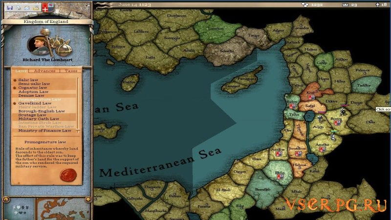 Crusader Kings screen 1
