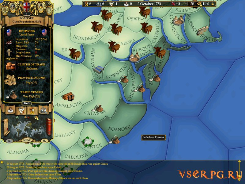 Europa Universalis screen 1