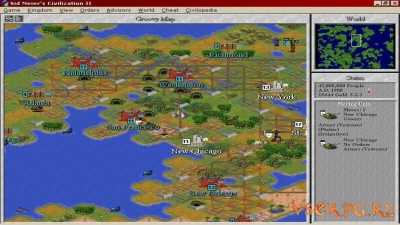 Civilization 2 screen 2
