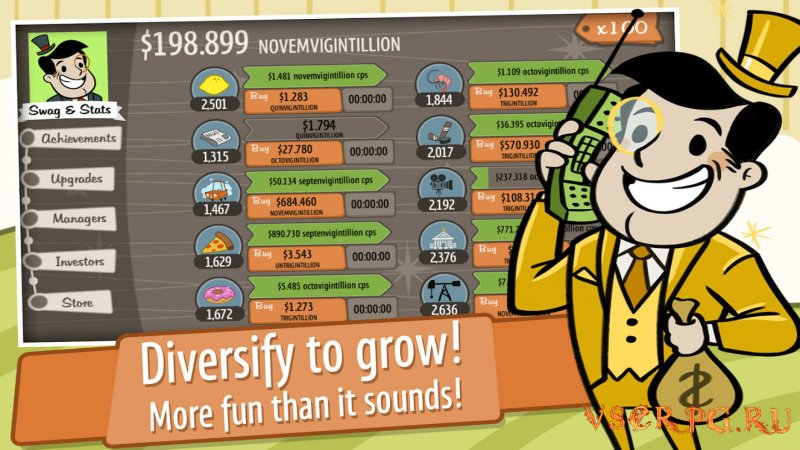 AdVenture Capitalist screen 2