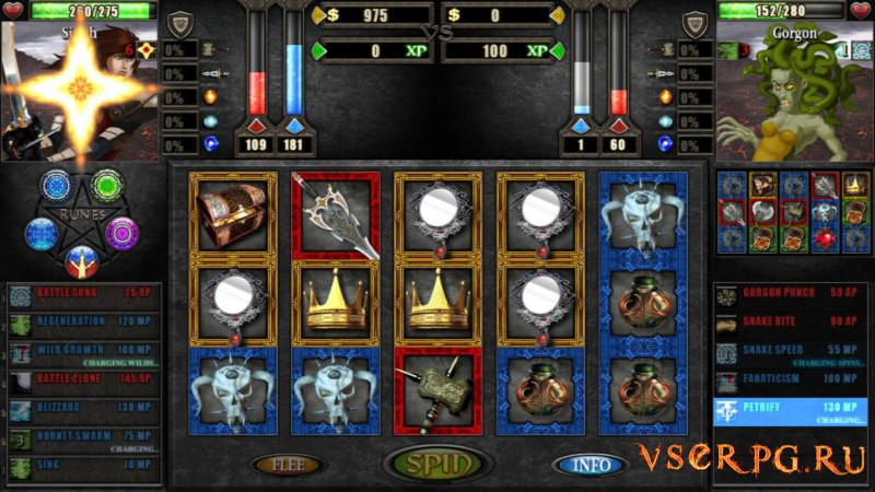Battle Slots screen 2