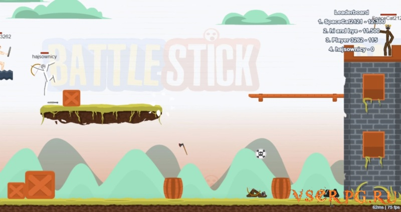 BattleStick screen 1