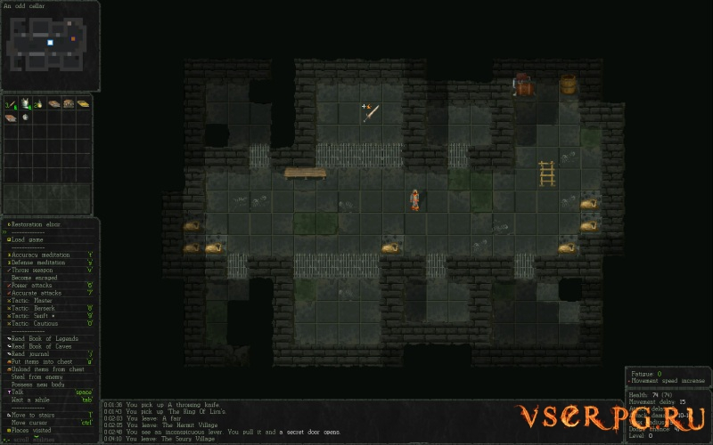 Vanilla Bagel: The Roguelike screen 1
