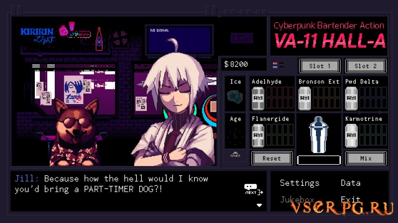 VA-11 Hall-A: Cyberpunk Bartender Action screen 3