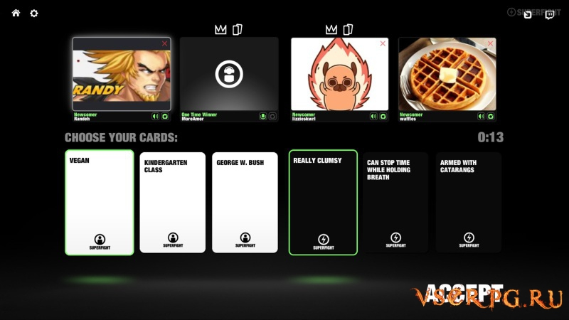 SUPERFIGHT screen 1