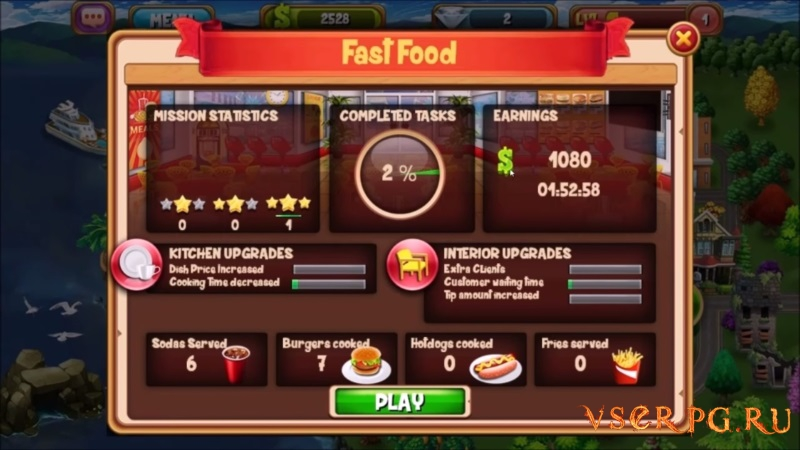 The Cooking Game screen 2