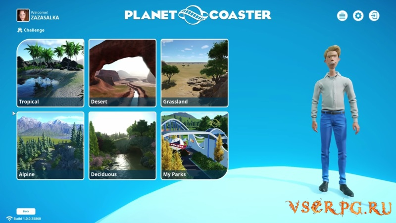 Planet Coaster screen 1