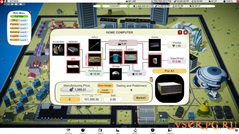 Computer Tycoon screen 1
