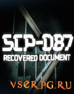 Постер игры SCP-087: Recovered document