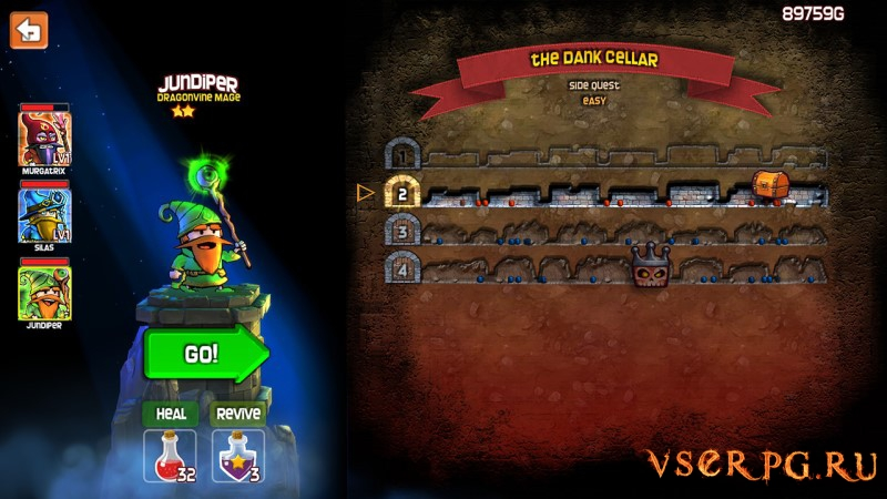 Dungeon Stars screen 1