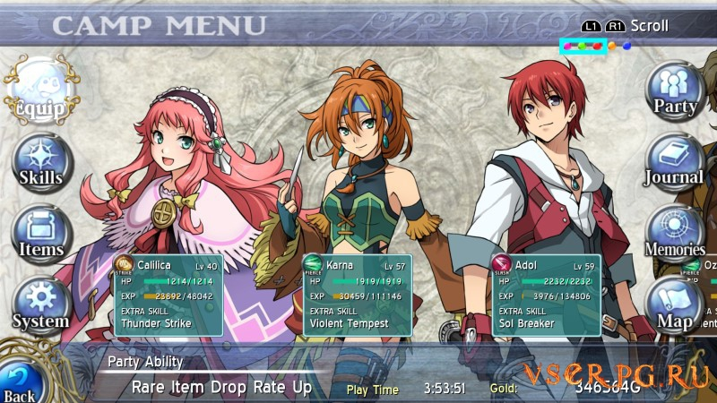 Ys: Memories of Celceta screen 2